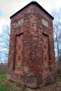 The base of the chimney from Watermills Colliery